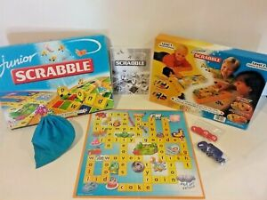 Junior Scrabble Educational Kids Board Game Age 5 to 10 Mattel 2007 Free Postage