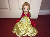 "DISNEY PRINCESS 21"" WINTER BELLE DOLL SOFT TOY PLUSH WITH BADGE"
