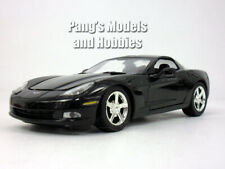 Chevrolet Corvette C6 (2005) 1/24 Scale Diecast Metal Model by MotorMax - BLACK