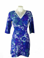 Unbranded V Neck 3/4 Sleeve Tunic Dresses for Women