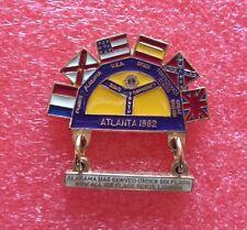 Pins LIONS CLUB Lioness ATLANTA 1982 Six Flag Lionism