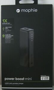 MOPHIE ESSENTIALS POWER BOOST MINI 2,600 mAh PORTABLE CHARGER BNIB NEW IN BOX