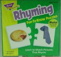 Rhyming Fun to Know Puzzles Match Pictures by Trend Enterprises