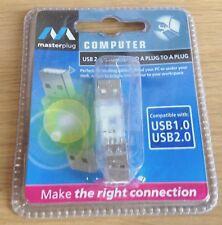 Nuevo USB 2.0 A Macho a Macho M/M Cable Adaptador Convertidor Conector Carpintero Acoplador