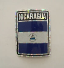 "Bandera Nicaragua  Flag Stickers 3""x4"""