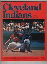 Toronto Blue Jays Scorebook Vs Cleveland Indians Vol.2 No.14 1978 021921nonr