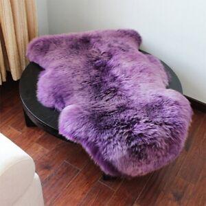 Plain Fluffy Sheepskin Faux Fur Rugs Soft Shaggy Carpet Room Sofa Mat Thick Wool