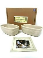Longaberger Pottery Woven Traditions Ivory Set of 2 Dash Bowls NIB # 3189490