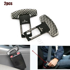 2x Universal Adjustable Car Safety Seat Belt Buckle Alarm Stopper Clip Clamp
