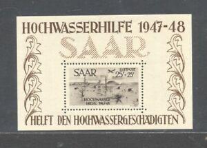 GERMANY , SAAR , 1948 , flood relief fund mini sheet UNMOUNTED MINT , MNH