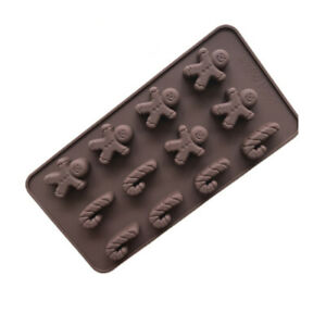 Gingerbread Man Silicone Fondant Mould DIY Chocolate Cake Ice Candy Baking Mold