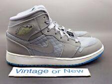 Girls' Nike Air Jordan I 1 Phat Cool Grey Blue Glow White GS 2011 sz 5Y