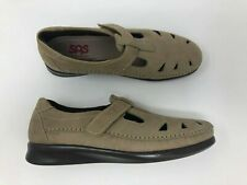 SAS Comfort Shoes Womens 9N Gray Suede Leather Cut Out Walking