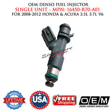 1X OEM Denso Fuel Injector for 2008-2012 Honda&Acura V6 3.5-3.7L #16450-R70-A01