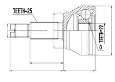GELENKSATZ, ANTRIEBSWELLE/ AUßEN FORD FIESTA 1.25,1.3,1.4,1.8D 95-, PUMA 1.4 97-