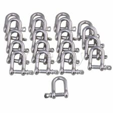 20 x Silver Stainless Steel 304 Screw Pin Lifting Shackle M4 for Rigging