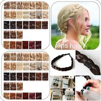 Stranded Hair Plait Chunky Clipped Braid Hairband Hairpiece Braided Headband Box