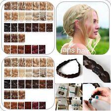 """Stranded Hair Plait 1"""" Thick Chunky Braided Hairpiece Clipped Headband Hairband"""