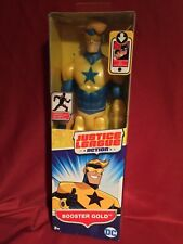 "Mattel DC Justice League Action 12"" INCH BOOSTER GOLD FIGURE * Posable * 2017"