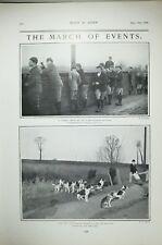 1903 Imprimé Eton College Beagles Pack Repos Hounds