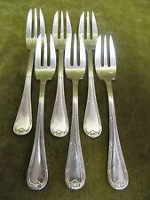 6 fourchettes à gateaux métal argenté LXVI ATD (pastry forks)