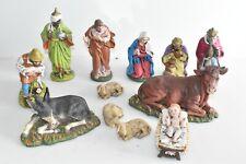 XXL 12er Set große Krippenfiguren Krippe  Weihnachtsfigur Gemarkt Germany F4