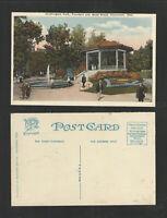 1920s WASHINGTON PARK FOUNTAIN AND BAND STAND CINCINNATI OHIO POSTCARD