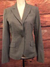 Theory Womens Gray Long Sleeve Career Blazer Jacket Size 4