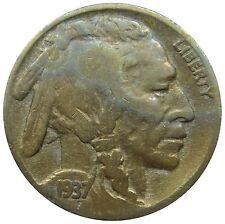 (E79) - USA United States - 5 Cents 1937 - Buffalo Indianer - F-VF - KM# 134