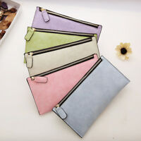 Women Wallet PU Leather Card Cash Pocket Pouch Photo Zipper Long Purse Handbag