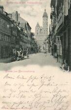 21956/ Foto Ak, Gruss aus Braunschweig,  Weberstrasse, 1899