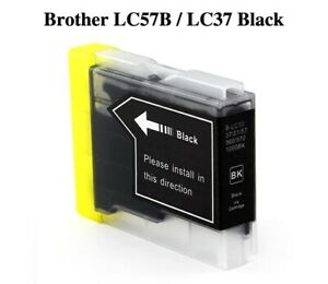 5x Generic Ink Cartridge LC37 LC57 Black Only For Brother DCP-350C 135C MFC-260C