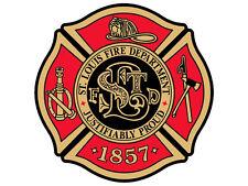 4x4 inch Maltese Cross Shaped ST LOUIS Fire Department Sticker -firefighter slfd
