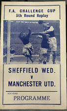 More details for sheffield wednesday v manchester united fa cup round 5 pirate programme 1961/62