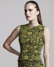 JIL SANDER Oxford Knitted Cotton Sleeveless Top. MADE IN ITALY. Size 36**$1070*