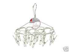 De Vielle Stainless Steel Strong Sock Camping Hanger Airer Dryer 18 Peg