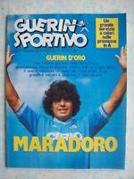 GUERIN SPORTIVO=N°25 1985=MARADONA VINCE IL GUERIN D'ORO=REAL MADRID COPPA UEFA