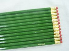 "12 Hexagon ""Regular (Moss) Green"" Personalized Pencils"