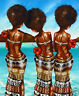 fiji island beach tropical COA palm tree  painting original print art