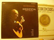 SEGOVIA ON STAGE Purcell Scarlatti Handel Bach Duarte Cassado LP 33 MADE in USA