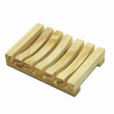 Bamboo Soap Dish Tray Stand Bathroom Holder Wooden Storage Plate Shower stand