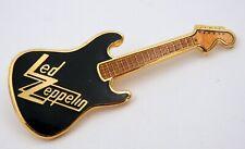 LED ZEPPELIN 'Logo' Guitar Shaped Enamel Pin Badge * NEW *