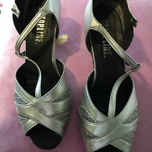 Topline Silver Dance Shoes Size 6