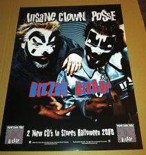 INSANE CLOWN POSSE 2000 Retail PROMO POSTER for Bizzar Bizaar CD Never Displayed