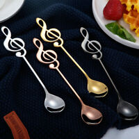 5Pcs/Set Stainless Steel Creative Spoon Gold-plated Mixing Coffee Dessert Spoon