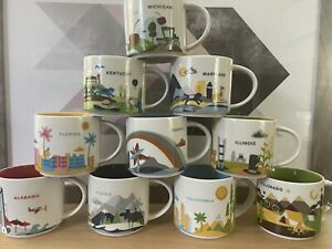 Starbucks You Are Here Mugs Collection