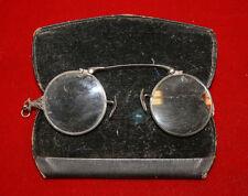Vintage Lorgnette Crimp Style Eyeglasses w/ Original Snap Case