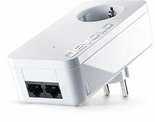 Devolo dLAN 1000 duo+ Adapter, Einzeladapter mit 2 Netwerkanschlüssen