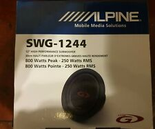 "Alpine SWG-1244 - 12"" High performance 800 watts subwoofer ALPINE SUBWOOFER"