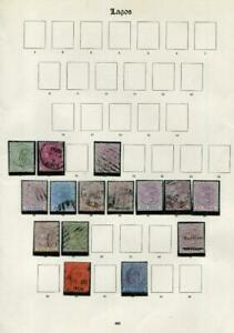 LAGOS: Victoria-Edward II Examples - Ex-Old Time Collection - Album Page (41690)